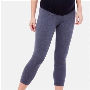 BeMaternity Heather Gray Cropped Leggings